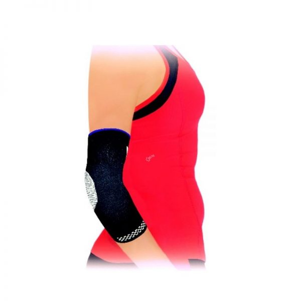 Безшевна плетена ластична ортеза за тенис лакет с мека силиконова опора
