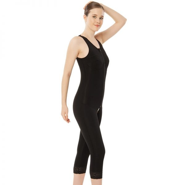 Стягащо постоперативно еластично бельо за цяло тяло без ръкави