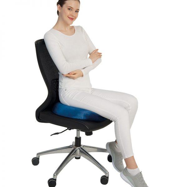 """Visco възглавница за сядане от мемори пяна (""""D"""" FORM)"""