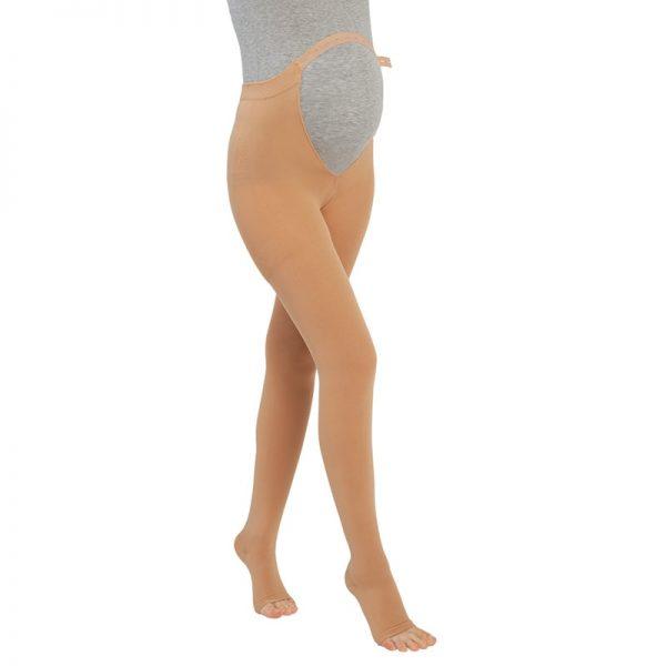 Чорапогащник за бременни жени с отворени пръсти, компресия 20-30 mmHg