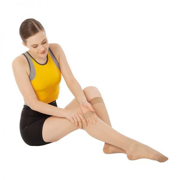 Чорапи за разширени вени до под коляното с лека компресия 15-20 mm