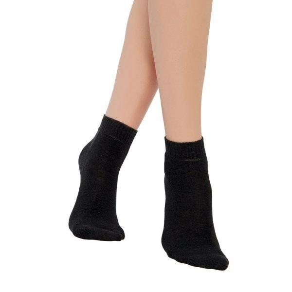 Ниски чорапи със сребърна нишка и хавлиена част на цяло стъпало